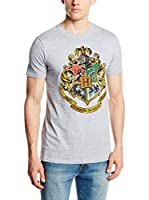 ICONIC COLLECTION - HARRY POTTER Camiseta Manga Corta Hp Hogwarts Crest (Gris)