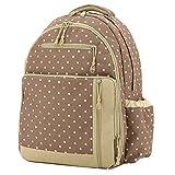 Aivtalk Bolso Maternal Mochila Multifunci�n Cambiador de Pa�ales Backpack para Carro Carrito de Beb� Biber�n Botella Comida Viaje 30cm(L) x 19cm(W) x 41cm(H) - Caqui Lunares