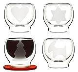 Geschenkartikel-Shopping Sagaform Glühwein-Tassen aus Glas, 4-er Set, Glühwein-Set für Glögg-Trinker