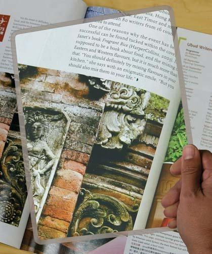 Rigid Page Size Magnifier
