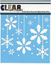 Clear Scraps Holly Christmas Bulbs Stencils 12 by 12quot
