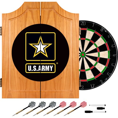 Trademark Army7000 Dart Board Cabinet With Officially Licensed U.S. Military Logo, Digital Camo