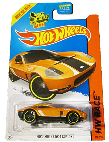 Hot Wheels - HW Race 2015 - Track Aces 178/250 - Ford Shelby GR-1 Concept (orange) - 1