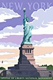 Statue of Liberty National Monument - New York City, NY (12x18 Art Print, Wall Decor Travel Poster)
