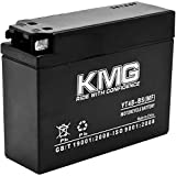 KMG YT4B-BS Battery For Yamaha SR400 2001-2009 Sealed Maintenace Free 12V Battery High Performance SMF OEM Replacement Maintenance Free Powersport Motorcycle ATV Scooter Snowmobile Watercraft KMG (Color: Black)