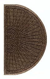 Andersen 2246 Waterhog Eco Grand Premier PET Polyester Fiber Half Oval Entrance Indoor/Outdoor Floor Mat, SBR Rubber Backing, 2.3\' Length x 4\' Width, 3/8\