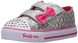 Skechers Kids Shuffles-Starlight Style Light-Up Sneaker (Toddler), Silver Stars, 8 M US Toddler