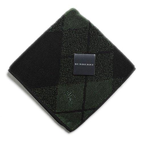 バーバリー タオル ハンカチ グリーン 緑 チェック アーガイル ブランド メンズ 35620