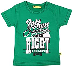 Buzzy Baby Boys' 3-6 Months Cotton T- Shirt (Green)