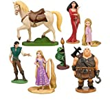 Rapunzel Figurine Set - Birthday Cake Topper incl. Rapunzel, Flynn, Maximus, Toddler,Rapunzel, Mother Gothel, Hookhand Thug & Pascal