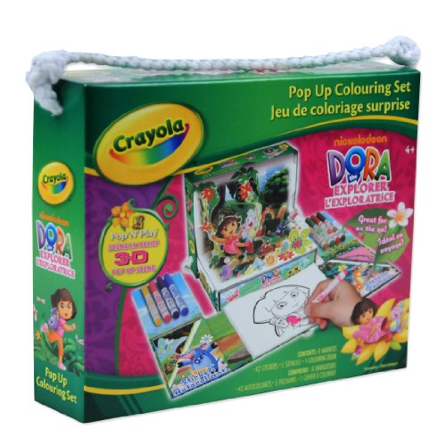 Dora The Explorer Crayola Pop Up Colouring Set - Pop 'N' Play 3D Scene -