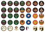 Crazy Cups Dark Roast Sampler Pack, Single-cup coffee for Keurig K-Cup Brewers, 35-Count