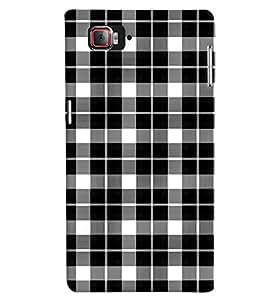 Fuson Premium Black n White Cheques Printed Hard Plastic Back Case Cover for Lenovo Vibe Z2 Pro K920