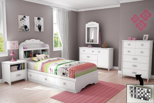 Image of Kids Bedroom Furniture Set 2 - Tiara - South Shore Furniture - 3650-BSET-1 (3650-BSET-2)