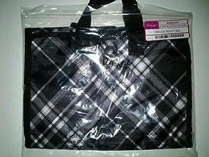Thirty One Timeless Beauty Bag Black Pick Me Plaid - 3849