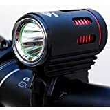 Super Bright Front Bike Light - Blitzu Halo 960 Lumens XM-L2 LED Rechargeable Bicycle Headlight with Angel Eyes Daytime Running Light - Waterproof, Fits ALL Bikes, Easy install and Quick Release