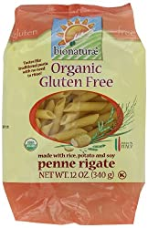 bionaturae Organic Penne Rigate, Gluten Free, 12-Ounce Bags (Pack of 6)