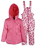 Pink Platinum Baby Girls Down Alternative Snowboard Puffer Coat and Snowpants - Strawberry (12 Months)