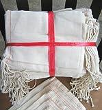 "5""x7"" Cotton Muslin Drawstring Bags, 50 Pack"