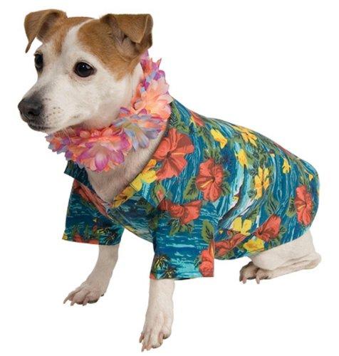 [WMU Pet Luau Costume Medium] (Hawiian Costumes)