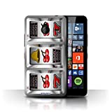 STUFF4 Phone Case Cover for Microsoft Lumia 640 XL Cherries Design Slot Machine Collection