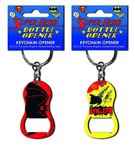 Batman Keychain Pop Art Stainless Steel Super Hero Bottle Opener (Bottle Opener Batman Keychain compare prices)