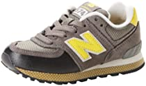 New Balance KL574 Classic I Running Shoe (Infant/Toddler),Grey/Yellow,6 M US Toddler
