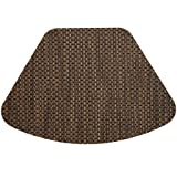 Driftwood (Black & Tan) Wipeable Wedge-Shaped Placemat for Round Tables