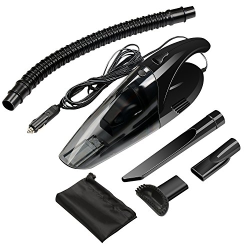 Car Vacuum 12V 80W Foseal™ Wet Dry Dustbuster Vacuum Lightweight Handheld Automotive Vacuum Cleaner Black with 13.2 FT Power Cord (Dustbuster Power Cord compare prices)