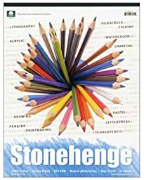 Stonehenge Paper Pad 100% Cotton 250 grms 8 x 8 inch White 15 sheets by Rising