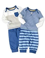 2 Pack Pure Cotton T-Shirt & Joggers Outfits