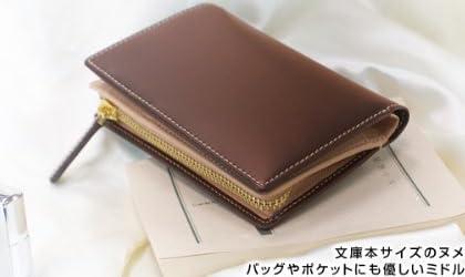 [ottostyle.jp]ヌメ革&オイルドレザーブックウォレット 2つ折財布 牛革/ブラウン/茶