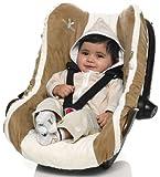 Wallaboo Housse siège auto Groupe 0 Housse universelle pour coques bébé sièges auto par ex pour Maxi Cosi Römer Marron
