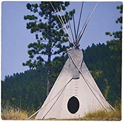 3dRose LLC 8 x 8 x 0.25 Inches Mouse Pad, Sd Lakota indian Teepee Native American Cindy Miller Hopkins (mp_94313_1)