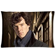 Custom Sherlock Pillowcase Standard Size 20*30Inch(Approximate 50*76 cm) Design Cotton Pillow Case