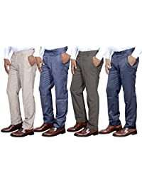 Indistar Combo Offer Mens Formal Trouser (Pack Of 4)