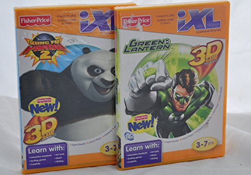 iXL Learning System Games BUNDLE of 2 - Kung Fu Panda 2 AND Green Lantern