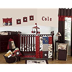 Wild West Western Horse Cowboy Baby Boy Bedding 11pc Crib Set without bumper