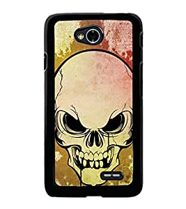 Fuson Premium 2D Back Case Cover Skull With Multi Background Degined For LG L70