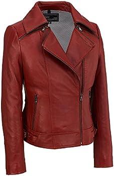 Wilsons Leather Zipper Collar Womens Jacket