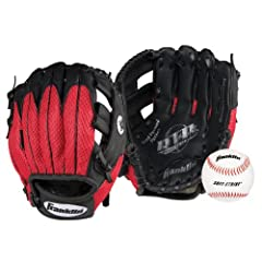 Buy Franklin Sports Teeball Recreational Series Right-Handed Fielding Glove, Black Red,... by Franklin