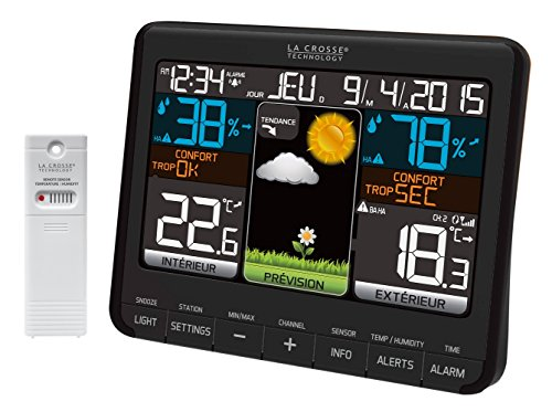 La Crosse Technology - WS6825 BLA - Station météo Noir