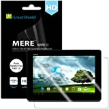 GreatShield® Asus MeMO Pad FHD 10 Tablet [Mere Mark II] Ultra Smooth [Crystal Clear HD] Screen Protector Film - 3 Pack - Lifetime Replacement Warranty