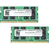 Mushkin ESSENTIALS Series – DDR4 Laptop DRAM – 32GB (2x16GB) SODIMM Memory Kit – 2133MHz (PC4-17000) CL-15 – 260-pin 1.2V Notebook RAM – 2Rx8 Modules – Dual-Channel – Low-Voltage – MES4S213FF16G28X2 (Color: Green and Black, Tamaño: 32GB)