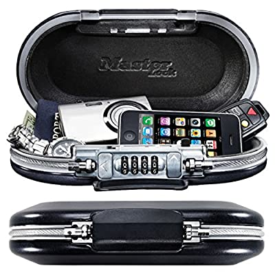 Master Lock Mini Safe 5900 - Safe Space, Portable Safe - Schwarz / Weiß