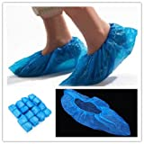 Big Bargain 100x Disposable Plastic Thick Carpet Cleaning Shoe Cover Overshoes Protective