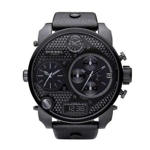 Diesel Men's S.B.A Watch DZ7193 With Black Leather Strap
