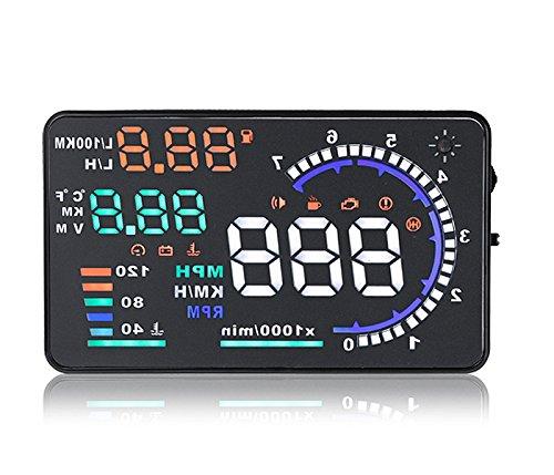 ◇A8 ヘッドアップディスプレイ スピードメーター OBD2/EU OBD 運転走行距離の測定 ドライブドクター フロントガラス ディスプレイ表示