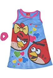 Angry Birds Girls 4-10 Blue Gown and Scrunchie