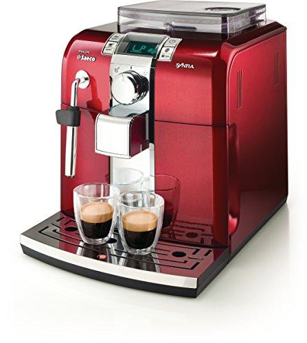 Saeco HD8837/31 Kaffee-Vollautomat Syntia Edelstahl rot thumbnail